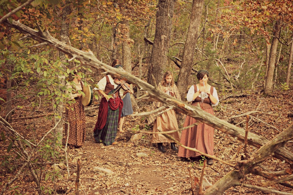 The lassies of the forest came and entertained us with a song!