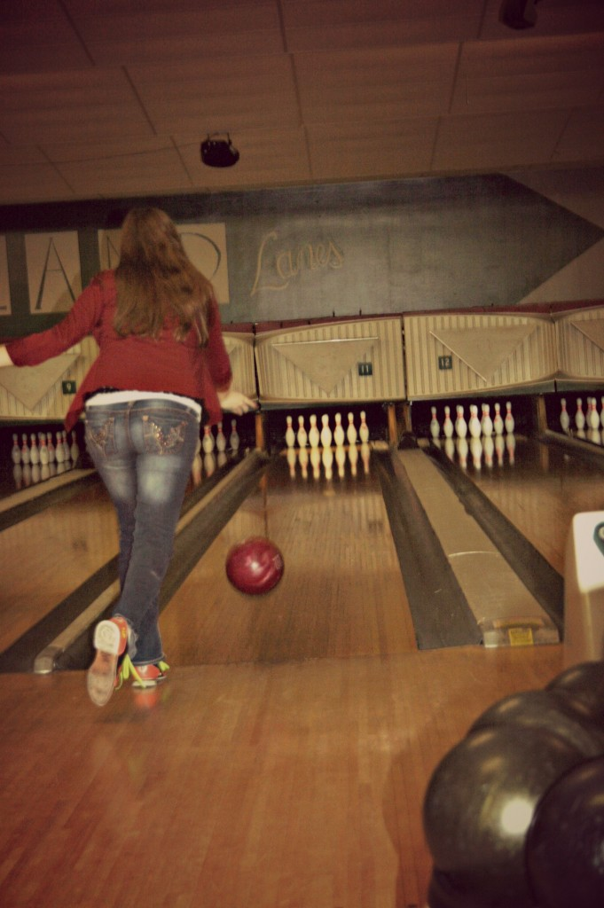 Even Esther got out there and bowled!