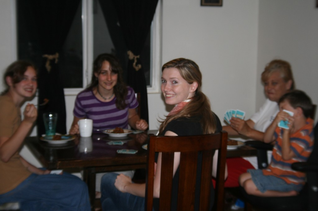 Having Dinner and a game of Rook at Esther and Rg's that evening. :)