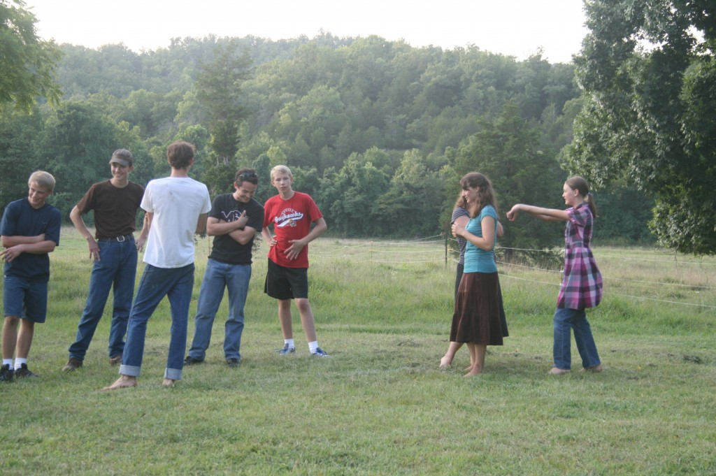 At Peter's going away party, we play...Volleyball!