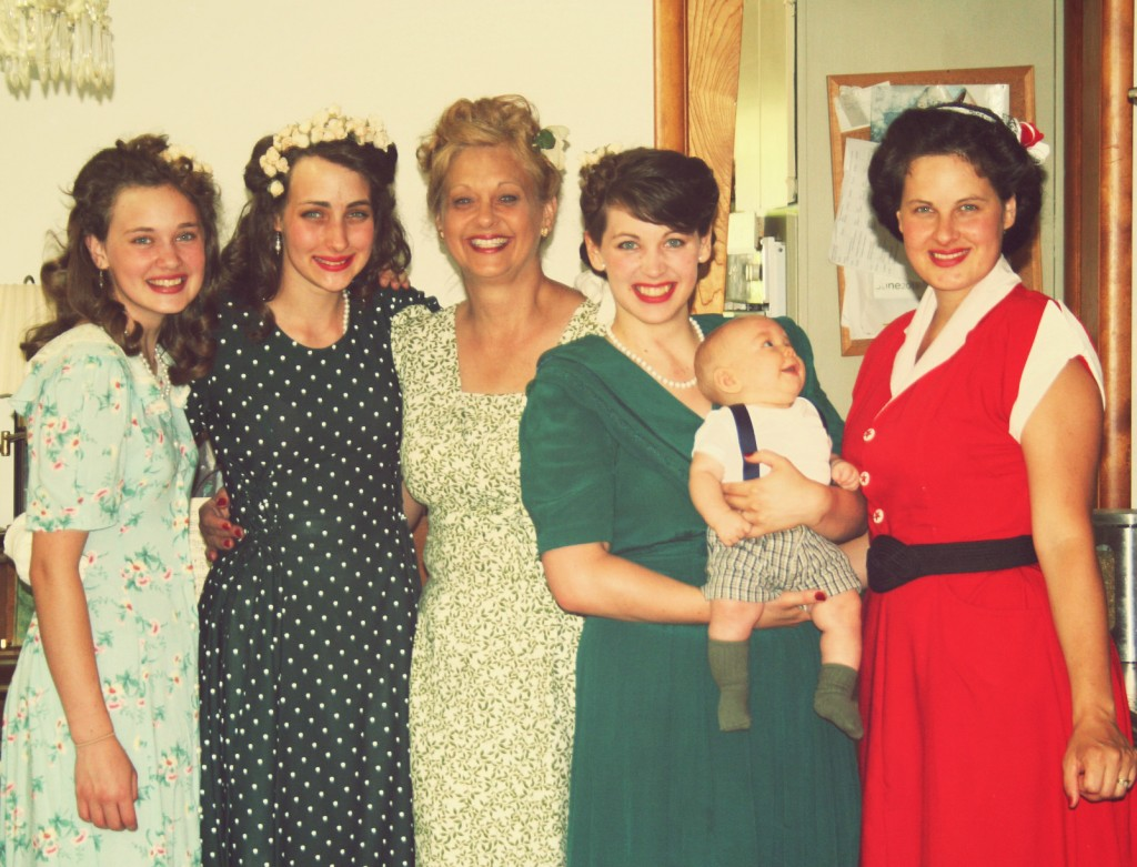 Mother and (most of)  her girls.